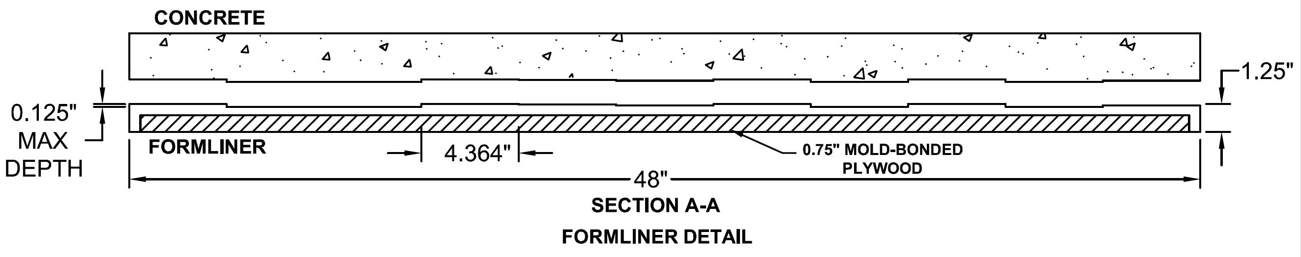 16020 Rough Sawn Plank GrayLastic formliner