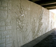 tn Custom Flower and Grass with 16986 Ashlar Pattern in Dallas, TX by JD Abrams Cast-In-Place
