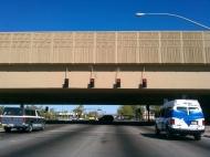 tn Custom Geometric Pattern on Overpass in Phoenix, AZ for Kiewit Sundt joint venture, cast-in-place