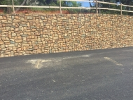 "Project: Holman Hwy Round AboutLocation: Monterey, CAContractor: Granite ConstPattern: 17915 Petaluma Fieldstone ""Modified"""