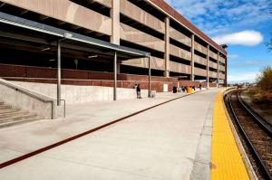 Salem Parking Garage, MA using VinyLok Fluted Rib patterns 14312 and 14641 by Unistress for MBTA completed fall 2014